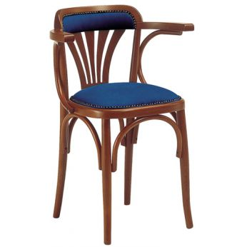 SE620 - Wooden chair with padded seat