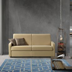 Girasole - 3 or 3XL seaters sofa bed, totally removable covering, different upholsteries and colours available, different armrest available