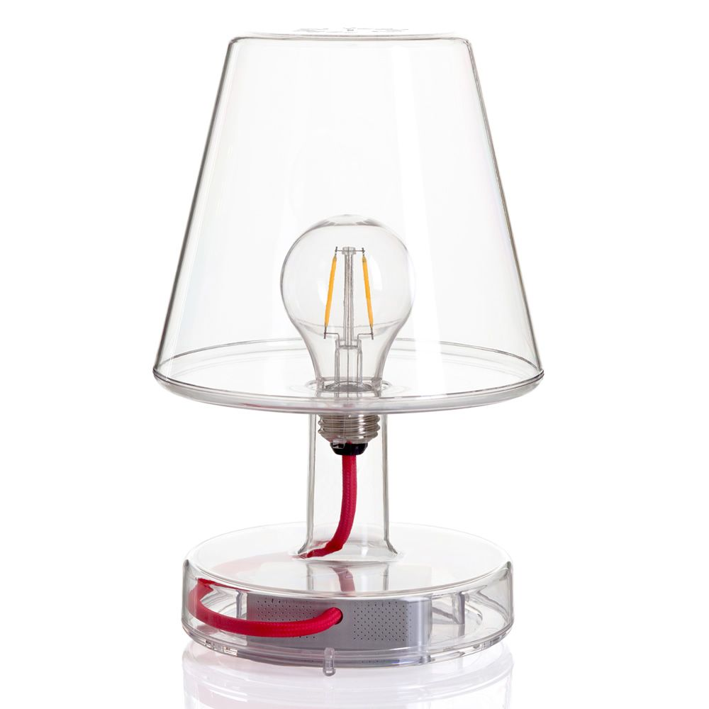 Lampe de table en polycarbonate transparent