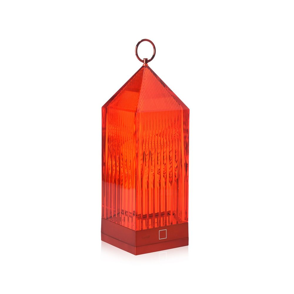Lantern Transparent polycarbonate Red. Express Delivery