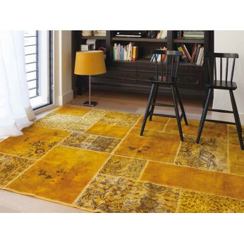 antalya yellow tapis moderne en pure laine vierge sediarreda. Black Bedroom Furniture Sets. Home Design Ideas