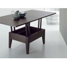 Ulisse - Extendable coffee table, in wood, 80 - 160x80 cm, height 41 - 74 cm, different colours