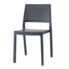 Emi 2343 - Technopolymer chair, stackable, available in several colours, for garden
