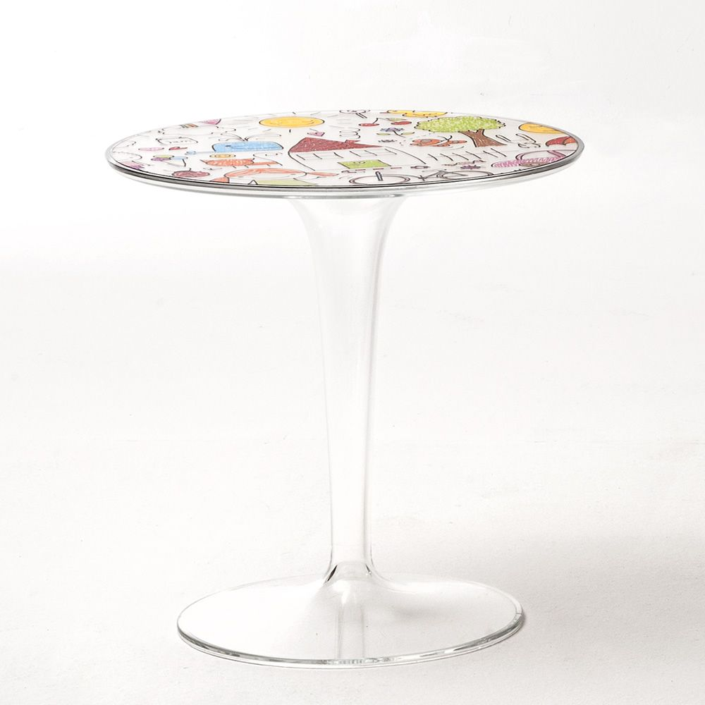 Kartell table for kids, drawing pattern