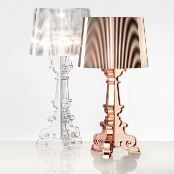 Bourgie - Kartell table lamp in transparent or copper colour polycarbonate