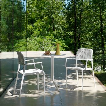 Step - Garden table in white polypropylene, matching with Bora