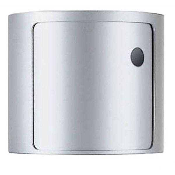 Design Kartell container equipped with one drawer, silver colour