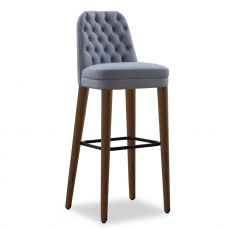 Signatures small - Tonon wooden stool, with padded seat, different finishes available