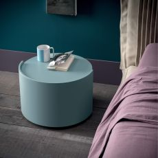 Vintage - Dall'Agnese night stand made of wood, different colours available, round drawer
