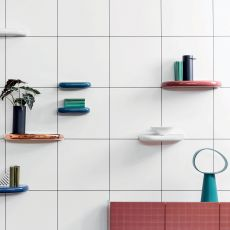 Pinna - Miniforms wall shelf made of ceramic, different sizes available