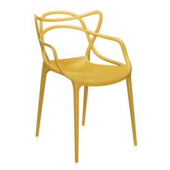 Masters - Design chair, mustard yellow polypropylene