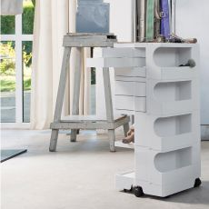 Boby - B-Line design trolley storage unit, with drawers and wheels, in ABS, available in different dimensions