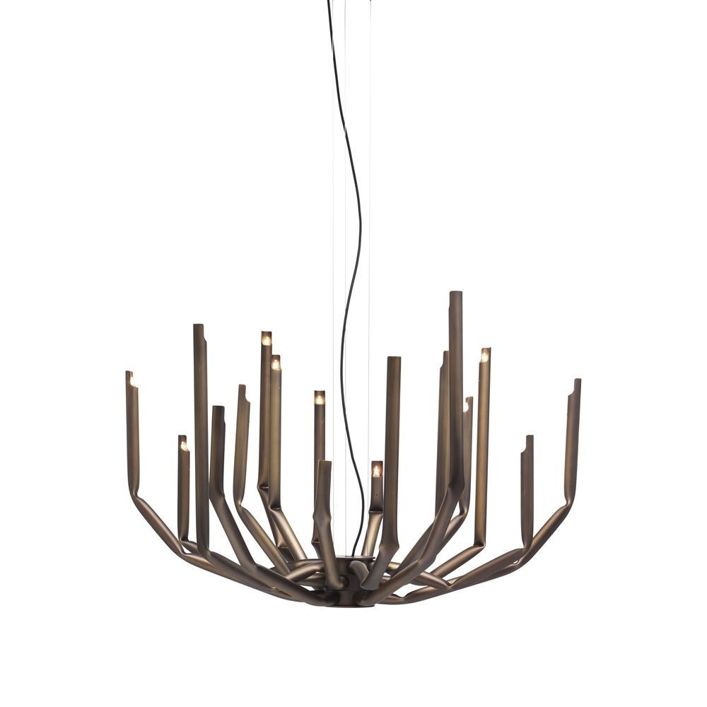 Suspension lamp in bronze painted metal, available on request (Size: Large)