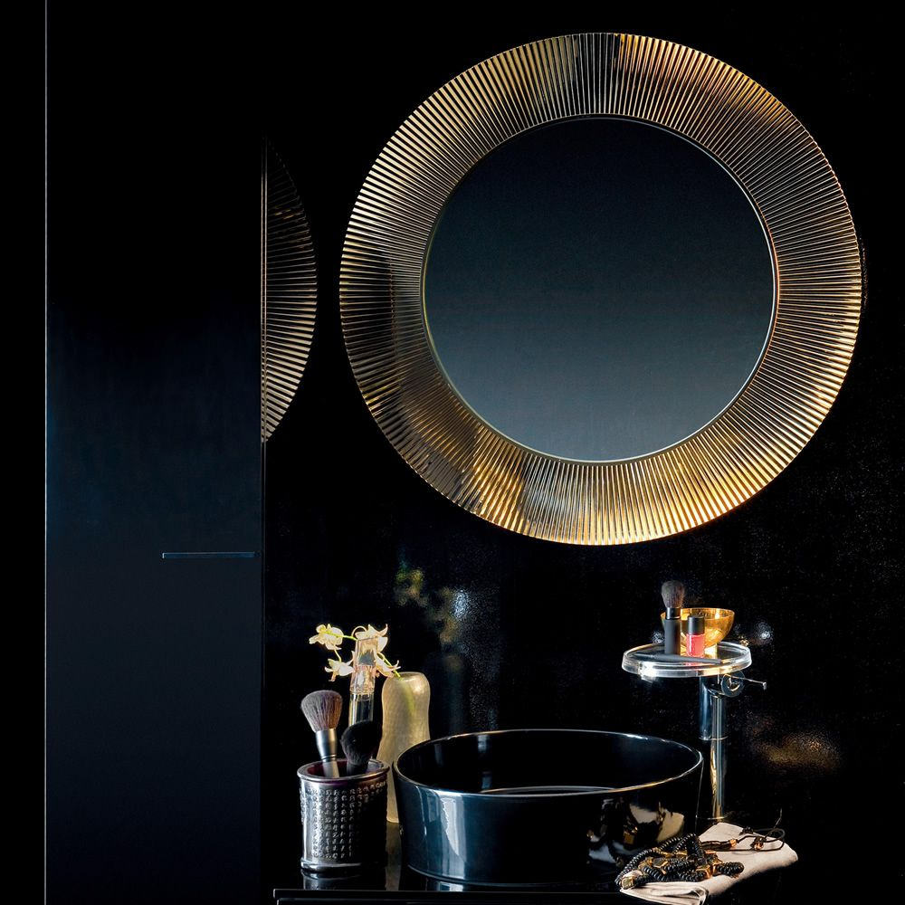 Kartell mirror in gold colour