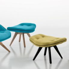 Betibù Wood SG - Designer armchair Chairs&More, in wood with upholstered seat, available in different colours