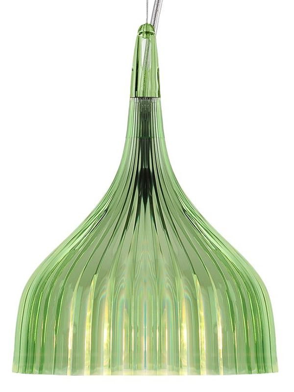 Kartell suspension ceiling lamp, green colour