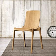 Dandy - Colico chair in oak wood, available in several colours
