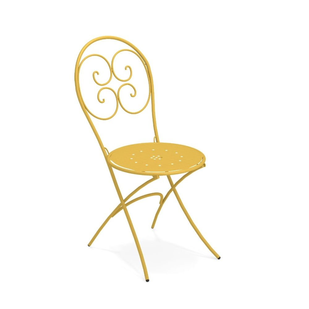 Pigalle 924 Structure Curry yellow Cushion No