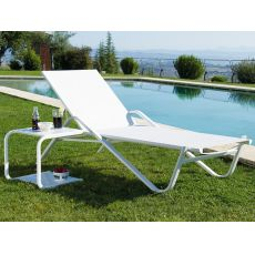 Holly 195i1 - Emu sunbed made of metal, for garden, stackable