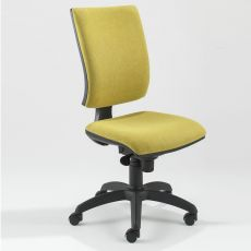 ML333 - Certified task chair for office, padded, with high backrest and wide seat, available in different coverings