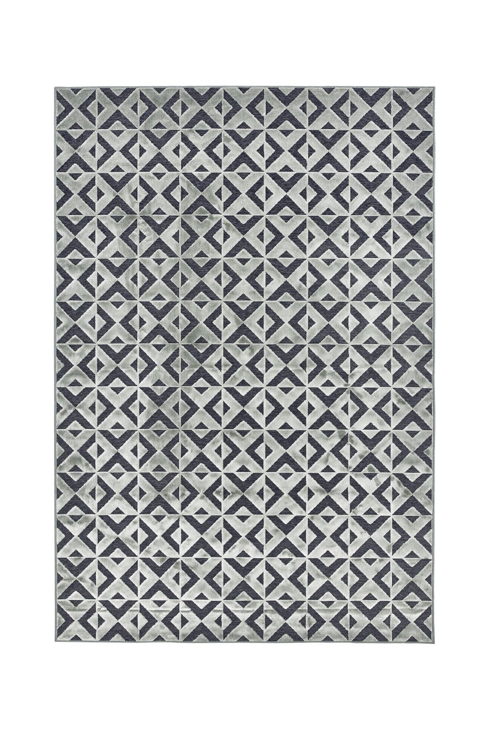 Contemporary rug, light grey version