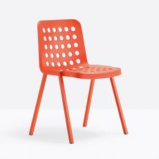 Koi-Booki 370 - Pedrali chair in aluminium and polypropylene, stackable, also for outdoor use