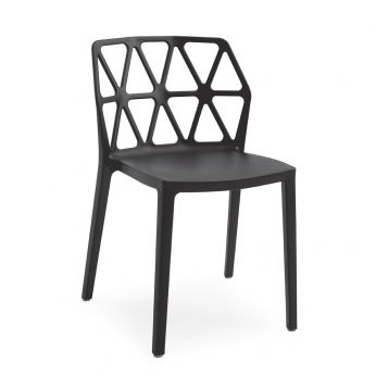CB1056 Alchemia - Stackable polypropylene chair, in black colour