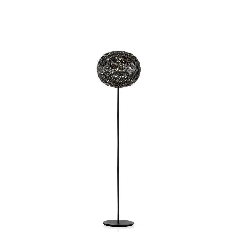 Kartell floor lamp in smoke grey technopolymer, height 130 cm