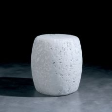 Satori - Pouf made of plastic material, available in white or multicolour, also for garden