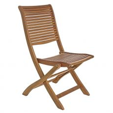 Catalina - Folding chair in acacia wood, with or without armrests, for garden