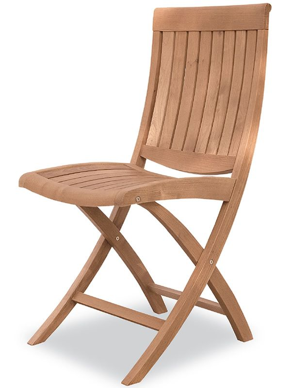 Folding chair in robinia wood, for garden