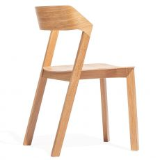 Merano - Ton chair in oak woodl, stackable