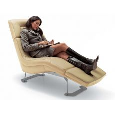 Matrix-Relax - Moderna chaise longue in diversi tessuti, in ecopelle o in pelle