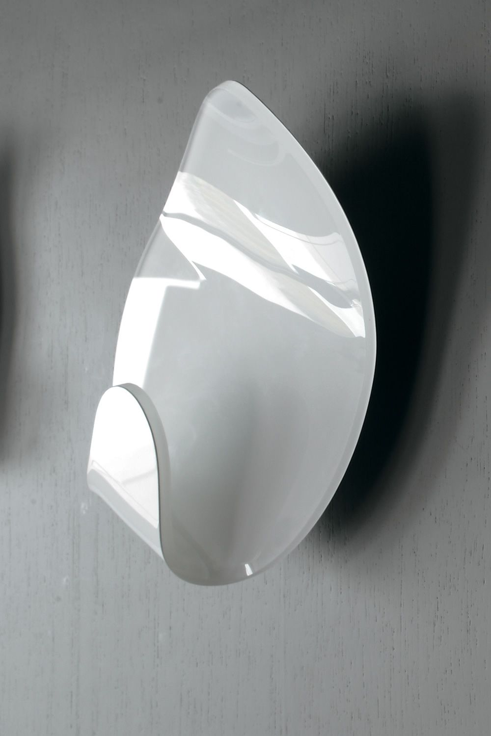 Set of 2 wall coat hook made of methacrylate, glossy white colour