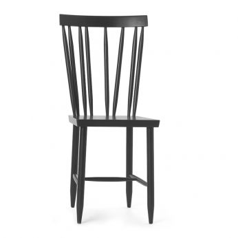 Family No.4 - Chair made of black lacquered beech wood