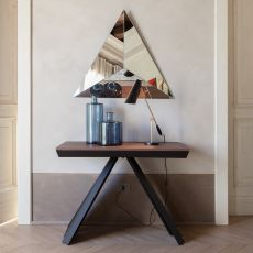 Ventaglio-C 6509 - Tonin Casa extendable console-table made of metal and melamine, different colours available