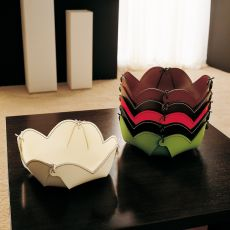 Samui T - Tray for knickknacks entirely covered with bonded leather