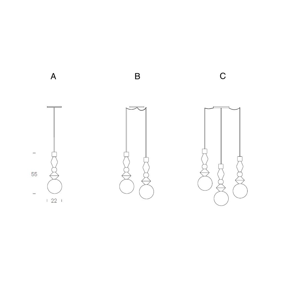Suspension lamp, different versions available