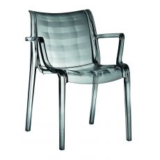 Extraordinaria 2350 - Polycarbonate armchair, stackable, also for garden
