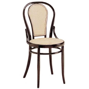 SE21 - Chair with wooden structure; straw back and seat