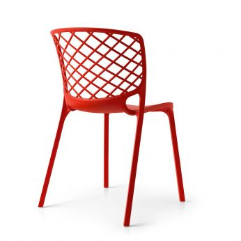 CS1459 Gamera - Stackable chair made of red nylon, also for garden