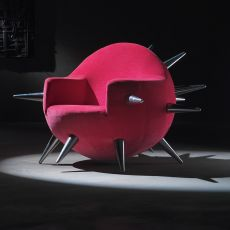 Bomb - Designer armchair Adrenalina, available in different fabrics and colors
