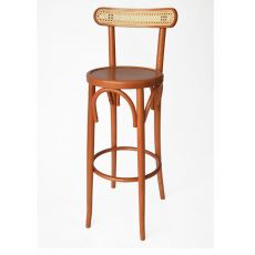 SE95SG - Vienna style stool in wood, seat height 80 cm
