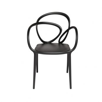 Loop Chair - Design chair in polypropylene, without cushion, black colour