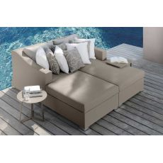 Chic - D - Sofa with chaise longue, for garden, also with coffee table