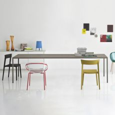 CS4070-R Heron - Calligaris metal table, fixed, 280 x 120 cm