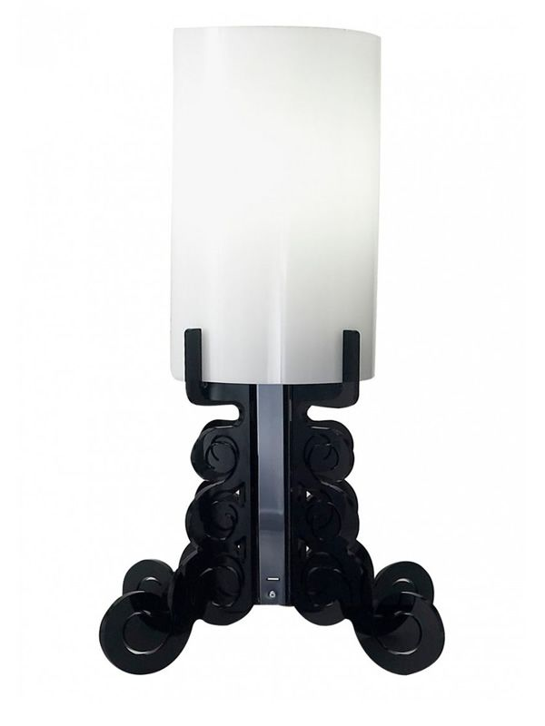 Table lamp in black methacrylate, L-large version