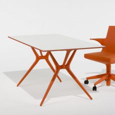Spoon Table - Folding table Kartell, made of polypropylene with laminated aluminum top, available in different colours and sizes