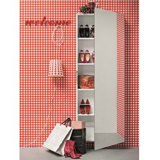 Welcome - Entrance furniture-shoe rack with mirror door, available in several colours