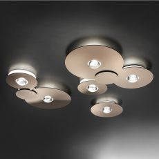 Bugia - Designer ceiling lamp, in metal and plexiglass, LED, available in different sizes and colours